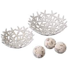 Set of 5 Uttermost Starfish Bowls And Spheres