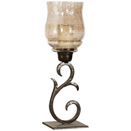 Uttermost Sorel Bronze Pillar Candle Holder Set of 2