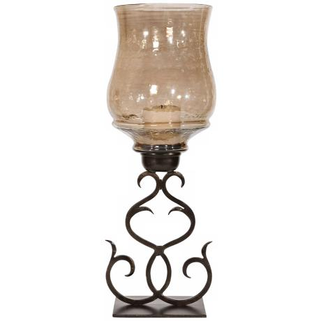 Uttermost Sorel Antiqued Double Scroll Candle Holder