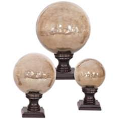 Set of 3 Uttermost Lamya Imperial Antiqued Finials