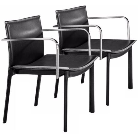 Zuo Gekko Espresso Set of 2 Conference Office Chairs