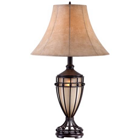 cardiff iron night light urn table lamp t7663