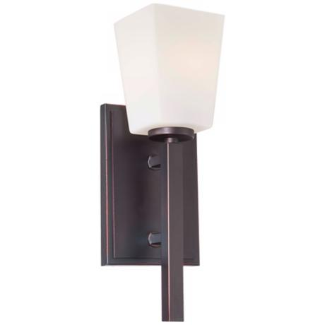 "Minka Lavery City Square Collection 13 1/2"" High Wall Sconce"