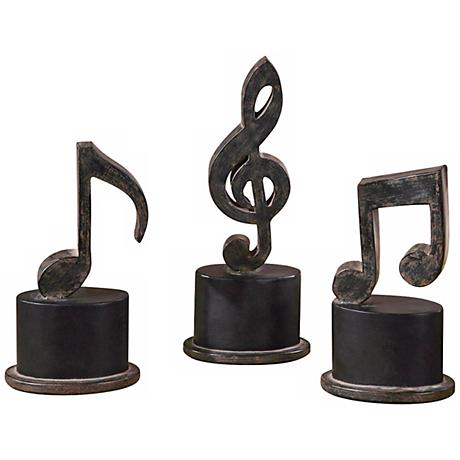 Uttermost Set of 3 Music Notes Decorative Accents