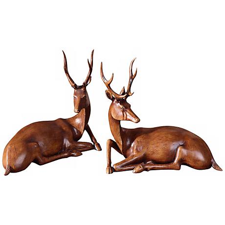 Uttermost Set of 2 Buck Statues
