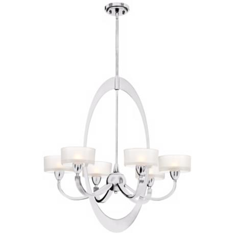 Contemporary Oval 6-Light Chrome Chandelier