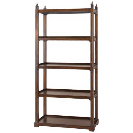 Uttermost Brearly Dark Bourbon Etagere