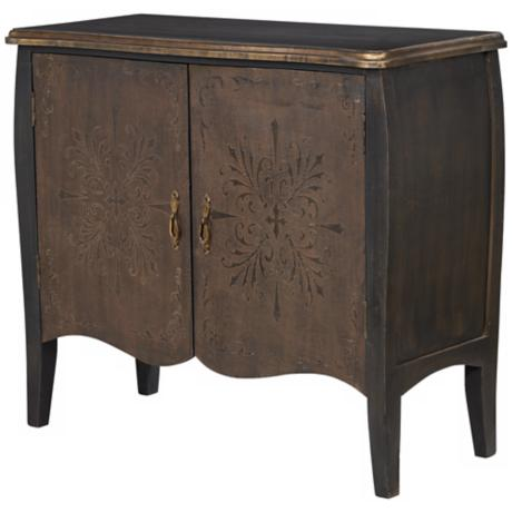 Uttermost Etoile Distressed Black Console Cabinet