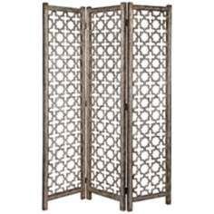 Uttermost Quatrefoil Aluminum 3-Panel Room Divider Screen