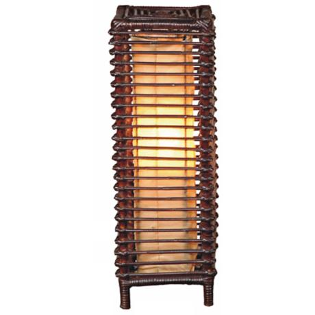 "Meridian Stained Rattan 24"" High Table Lamp"