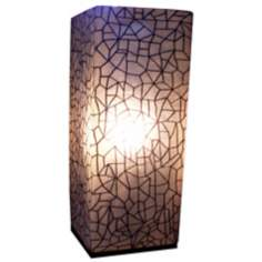 "Karo Crackle Painted Fiberglass 25"" High Table Lamp"