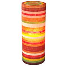 "Santa Ana Mixed Color Fiberglass 21"" High Table Lamp"