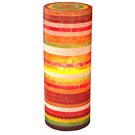 "Santa Ana Red and Orange 21"" High Accent Table Lamp"