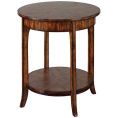 Uttermost Carmel Distressed Veneer Lamp Table