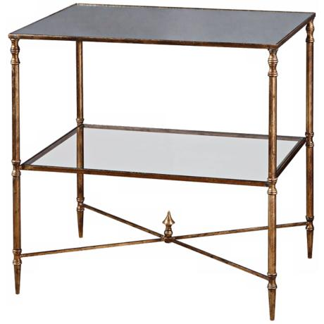 Uttermost Henzler Metal and Glass Lamp Table