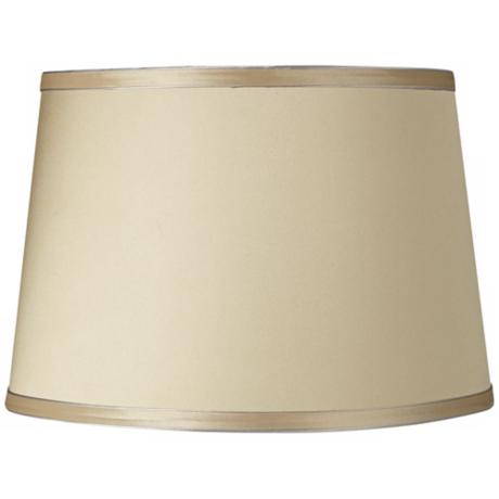 Beige Fabric Drum Shade 10x12x8 (Spider)