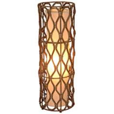 "Bethany Wicker Wrapped Iron 24"" High Table Lamp"