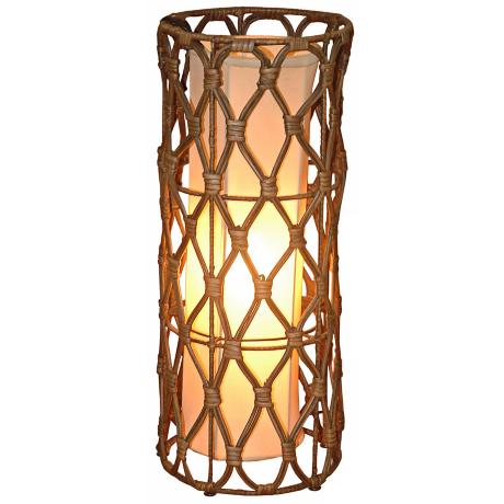 "Bethany Wicker Wrapped Iron 20"" High Table Lamp"