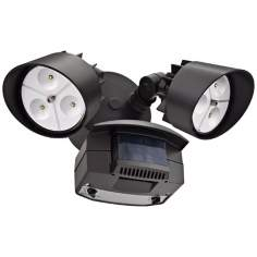 Bronze Motion Activated 2-Head LED Floodlight