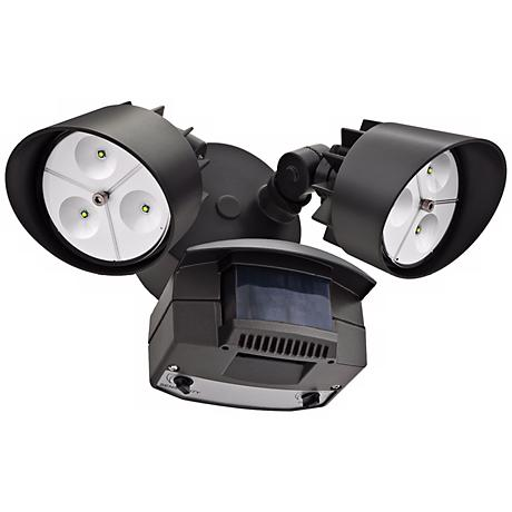 "Bronze Two-Light 7 1/4"" High Motion Sensor LED Floodlight"