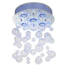 Possini Euro LED Light Show Bubbles Semi-Flush Ceiling Light