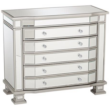 Wilton Wide Mirrored 3-Drawer Dresser