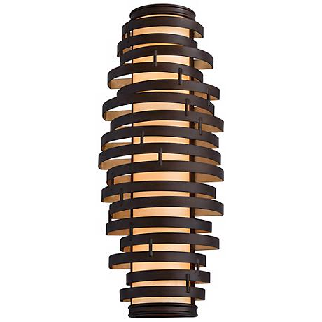 "Corbett Vertigo Bronze Finish 24"" High Wall Sconce"