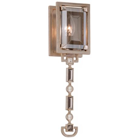 "Corbett Paparazzi Silver Leaf 15 3/4"" High Wall Sconce"