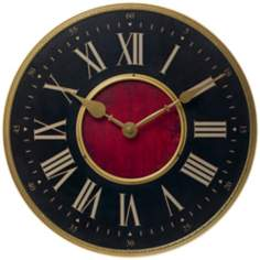 "Verona Antique Brass 15 3/4"" Wide Wall Clock"