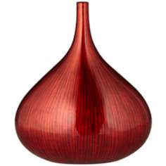 Line Small Neon Red Bottle Vase