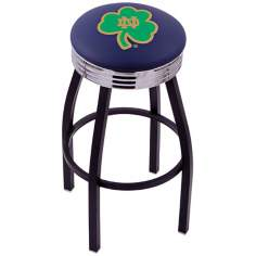 Retro Notre Dame Shamrock Counter Stool