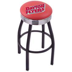 Retro University of Dayton Red Bar Stool