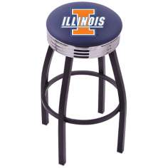 Retro University of Illinois Counter Stool