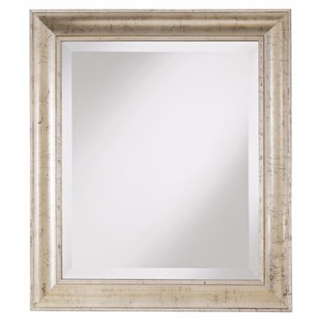 "Weathered Silver 30"" High Wall Mirror"