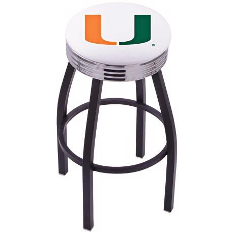 Retro University of Miami Barstool