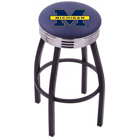 Retro University of Michigan Counter Stool