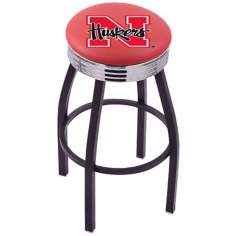 Retro University of Nebraska Counter Stool