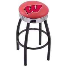 Retro University of Wisconsin Counter Stool