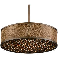 "Corbett Lighting Mambo Bronze 20"" Wide Pendant Light"