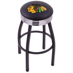 Retro Chicago Blackhawks Hockey Sports Bar Stool