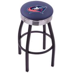 Retro Hockey Columbus Blue Jackets Counter Stool