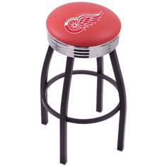 Retro Detroit Red Wings Hockey Sports Bar Stool