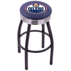 Retro Hockey Edmonton Oilers Counter Stool
