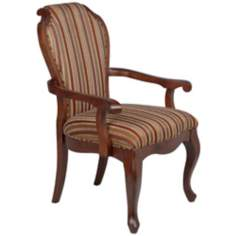 Kensington Stripe Wood Accent Chair