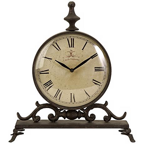 Traditional Eilard Iron Table Clock