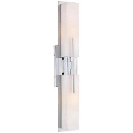Possini Euro Design Midtown 23 1 2 High Chrome Bath Light T9731