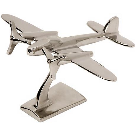 "Up In The Air Aluminum 9"" High Plane Statuary"