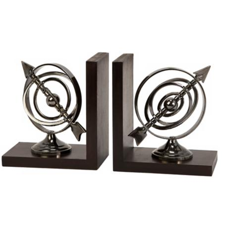 Calisto Aluminum Armillary Bookends
