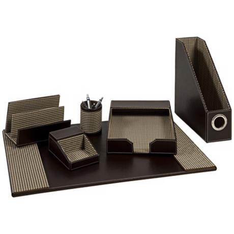 faux leather desk accessories