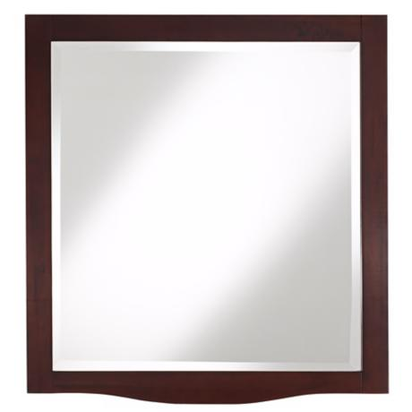 "Espresso 32"" High Wood Wall Mirror"